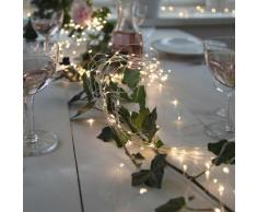 COPPER WIRE - Guirlande fine 10 branches argenté 125 LED L1,40m - Guirlande et objet lumineux Xmas Living Glass designé par