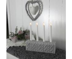 KNITTED - Chandelier Mailles Gris 4 bougies à ampoules - Lampe à poser Xmas Living Glass designé par