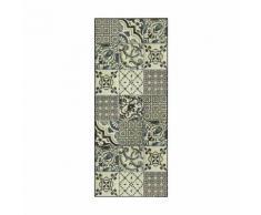 Tapis de cuisine carreaux de ciment 50x120cm en vinyle