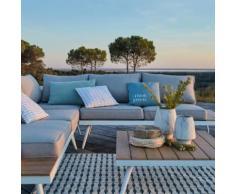 Salon de jardin gris en alu et polywood (4 à 6 places)