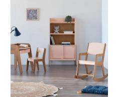 Chaise en acacia pour enfant rose sable