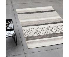 Tapis extérieur et intérieur gris à motifs 160x230cm