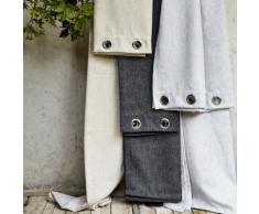 Rideau à oeillets gris clair 140x250cm