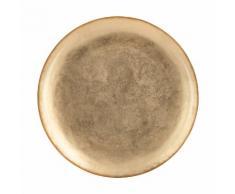 Lot de 6 assiettes plate en verre doré d27.7cm (prix unitaire : 6.0 euros)
