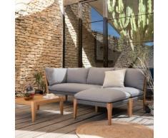 Salon de jardin en eucalyptus gris (4 places)