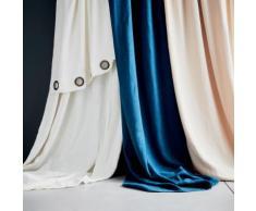 Rideau à oeillets en lin lavé blanc ventoux 140x360cm