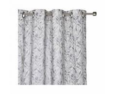 Voilage à oeillets en coton motif floral 140x250cm