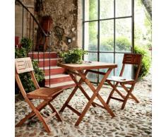 Chaise de jardin pliante en acacia huilé