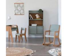 Chaise en acacia pour enfant vert olivier