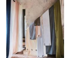 Rideau à oeillets en coton gris restanque 140x300cm
