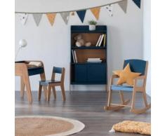 Chaise en acacia pour enfant bleu figuerolles