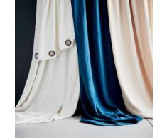 Rideau à oeillets en lin lavé blanc ventoux 140x280cm