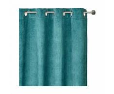 Rideau à oeillets en velours vert d'eau 140x260cm