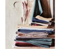 Chemin de table en lin et coton rouge sumac 50x150cm