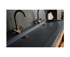 Double vasque en pierre à poser 120x50 Granit YATE