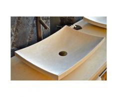 Vasque salle de bain en pierre 60X4 marbre Égyptien - ESNA