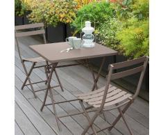 Table de balcon pliante carrée Greensboro Taupe Jardin
