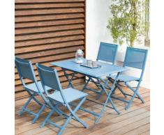 Table de balcon pliante rectangulaire Azua Bleu orage Jardin
