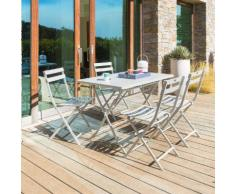 Table de balcon pliante rectangulaire Greensboro Galet Jardin