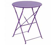 Table de balcon pliante ronde Camargue Violet Jardin