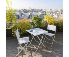 Table de balcon pliante carrée Azua Silver mat Jardin