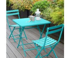 Table de balcon pliante carrée Greensboro Lagon Jardin