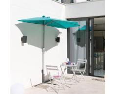 Demi parasol de balcon Séréna Émeraude Jardin