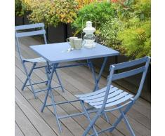 Table de balcon pliante carrée Greensboro Bleuet Jardin