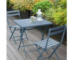 Table de balcon pliante carrée Greensboro Bleu orage Jardin