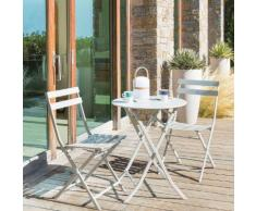 Table de balcon pliante ronde Greensboro Galet Jardin
