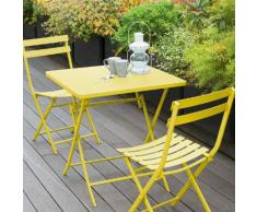 Table de balcon pliante carrée Greensboro Citron Jardin