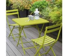 Table de balcon pliante carrée Greensboro Absinthe Jardin