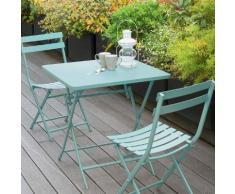 Table de balcon pliante carrée Greensboro Mint Jardin