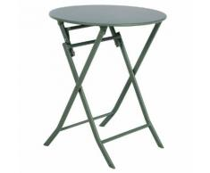 Table de balcon pliante ronde Greensboro Kaki Jardin
