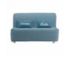 Housse de canapé BZ en coton bleu canard imprimé étoiles Elliot