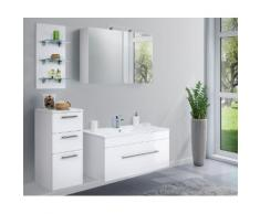 Ensemble de meuble de salle de bain VIVA 100 (4 Pièces) blanc brillant