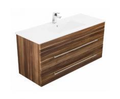Meuble salle de bain Versus noix satiné
