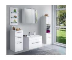 Ensemble de meuble de salle de bain VIVA 75 (5 Pièces) blanc brillant