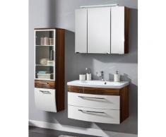 Ensemble de Meuble de salle de bain de 4 pièces Malema 80cm en Noix-Blanc
