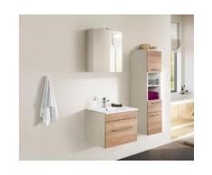 Ensemble de meuble de salle de bain VIVA 60 (2 Pièces) décor chêne