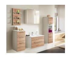 Ensemble de meuble de salle de bain SANTINI 75 (5 Pièces) décor chêne