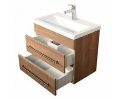 Meuble salle de bain Mars 600 SlimLine décor chêne
