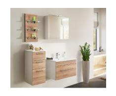 Ensemble de meuble de salle de bain VIVA 75 (4 Pièces) décor chêne