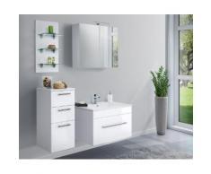 Ensemble de meuble de salle de bain VIVA 75 (4 Pièces) blanc brillant