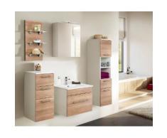 Ensemble de meuble de salle de bain VIVA 60 (5 Pièces) décor chêne