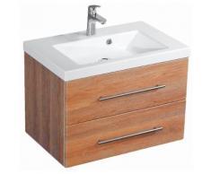 Meuble de salle de bain Infinity 700 décor chêne