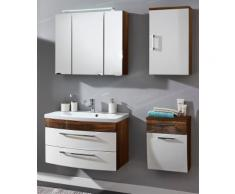 Ensemble de Meuble de salle de bain de 5 pièces Malema 80cm en Noix-Blanc
