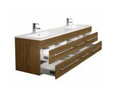 Meuble double vasque Colossos 200 décor acacia