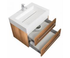 Meuble de salle de bain Design 700 décor Chêne