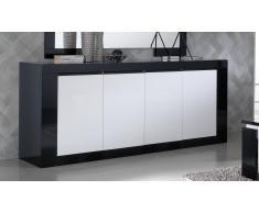 gdegdesign Buffet design noir et blanc 4 portes - Varsovie